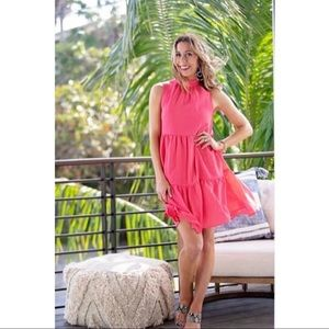 NWT Gibson Motherchic Lakeshore Tiered Dress